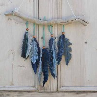 How To Make Denim Feather Wall Decor