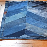 Easy To Make Unique Denim Handmade Chevron Rug