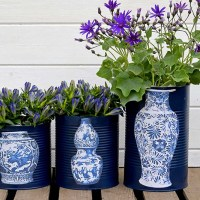 Fun and Unique Oriental Vase DIY flower pots