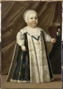 Luigi XIV bambino ritratto da Henri Beaubrun