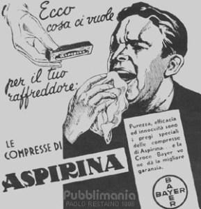 Old aspirin advertising poster