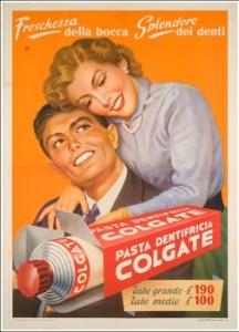 la publicidad de edad pasta de dientes Colgate