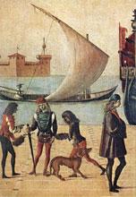Vittore Carpaccio-Llegada de los embajadores, Galería de la Academia, Venezia