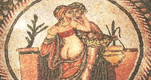 Due amanti in un'antica raffigurazione