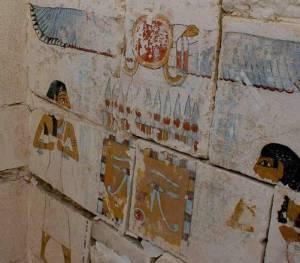 Disegni sulle pareti della tomba di Senebkay ad Abydos, Egitto