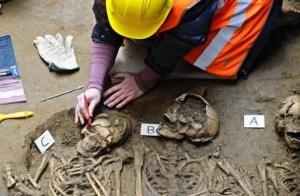 Resti umani trovati sotto la Galleria degli Uffizi a Firenze (Photo: cultural-diagnostic.it)