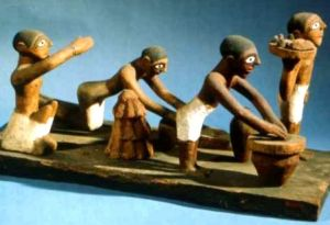 Verarbeitung von Brot im alten Ägypten