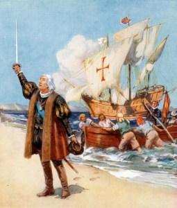 Christopher Columbus und Santa Maria