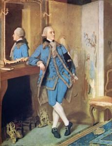 Un hombre del siglo XVIII con chaleco.