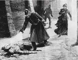 Una vittima di Jack lo Squartatore, da un'illustrazione d'epoca