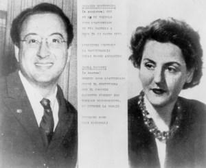 Rosario Bentivegna y Carla Capponi