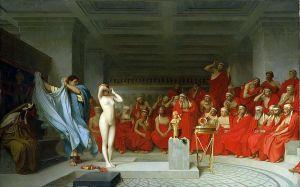Friné queda al desnudo ante los jueces, Jean-Leon Gerome, 1861