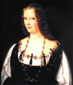Presunto ritratto di Lucrezia Borgia, la cui sola presenza in Vaticano provocò enorme scandalo tra i membri del clero