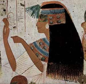 Una gran cabello en la mujer en el antiguo Egipto. He utilizado remedios calvicie eran realmente extravagante