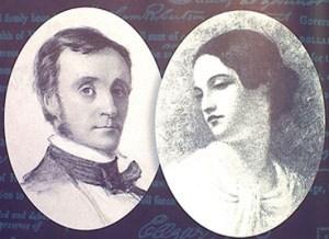 I coniugi Edgar Allan Poe e Virginia Clemm
