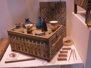 El neceser de Mérito conserva en el Museo Egipcio de Turín
