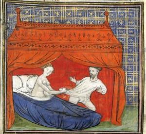 Una coppia medievale. Gli improbabili contraccettivi dell'epoca derivavano da credenze popolari diffuse