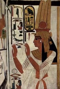 Donna egiziana. I deodoranti per profumare la pelle del corpo e combattere il caldo, si ricavavano dalla lavorazione di ingredienti naturali