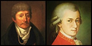 Portraits of Antonio Salieri and Wolfgang Amadeus Mozart