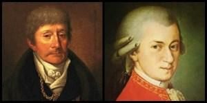 Retratos de Antonio Salieri y Mozart