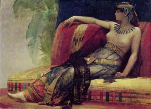Cleopatra in un dipinto ottocentesco di Alexandre Cabanel
