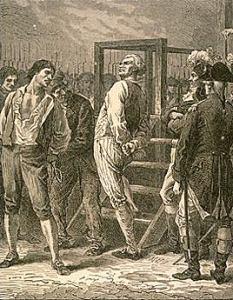 Danton condotto al patibolo