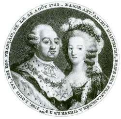 Der Dauphin Louis XVI und Marie Antoinette
