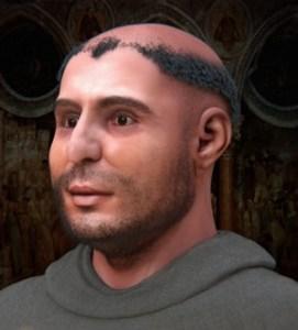 O rosto de Santo Antônio de Pádua como reconstruído a partir do Museu de Antropologia de Pádua
