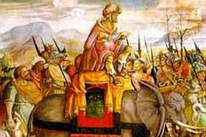 El descenso de los elefantes de Aníbal; el líder, una vez, se las arregló para ganar una batalla gracias a la utilización de las serpientes