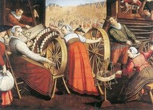 Filare era l'attività tipica delle donne nell'Europa Moderna