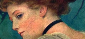 Um rosto feminino belo início dos anos 900. I punti neri si combattevano soprattutto con rimedi naturali