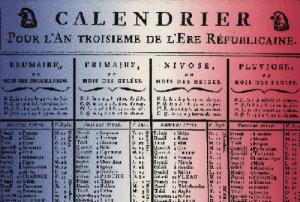 Il calendario della Rivoluzione Francese, in vigore dal 22 Settembre 1792 al 1 Gennaio 1806