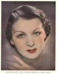 Cara de la mujer (a partir de '900). La piel es cuidado con métodos naturales
