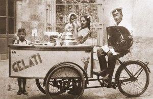 A cart of ice cream (fine '800)