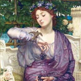 Clodia, o Lesbia, in un dipinto di Edward John Paynter (1907)