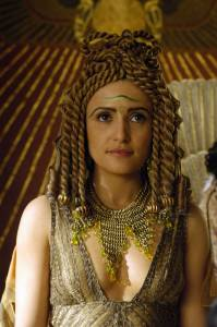 Cleopatra en la ficción televisiva Una. La regina d'Egitto faceva cospargere di profumo le vele delle navi