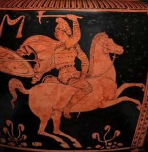 Amazon zu Pferd Griechisch (das Bild ist nicht derjenige, an dem die Post verweist)