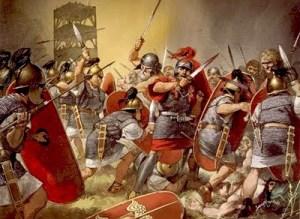 """Soldati romani. Il termine """"soldato"""" deriva dal latino """"solidarius"""""""