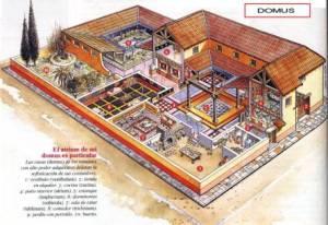 Uma casa típica romana