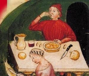 Uma tabela no Renascimento. A bagunça de ervas apresentado neste post é uma receita de '400