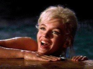 """Un primo piano di Marilyn Monroe sul set del film """"Something's got to give"""""""