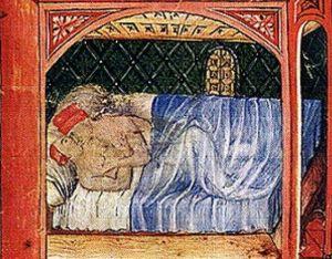 """Risqué image of the Middle Ages. Le """"corna"""" erano diffuse anche allora e fu proprio nel Medioevo che nacque l'espressione """"mettere le corna"""""""
