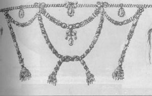 Kopieren Sie die kostbare Diamant-Halskette, die Gegenstand des Skandals