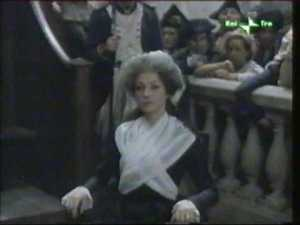 Marie Antoinette during the process in a film 1989