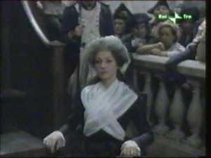 María Antonieta durante el proceso en una película 1989