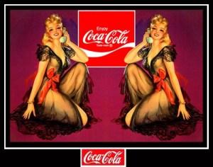 Vecchia pubblicità della Coca-Cola