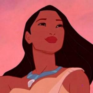 La bellissima principessa indiana Pocahontas nel famoso film della Disney