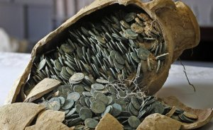 Uma das moedas de ânforas romanas contendo encontrado na Espanha