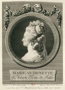 Marie-Antoinette Profil. E « évidence le prognathisme typique des Habsbourg