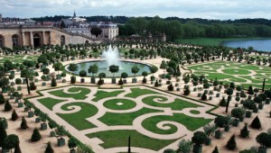 Palace of Versailles: view of gardens